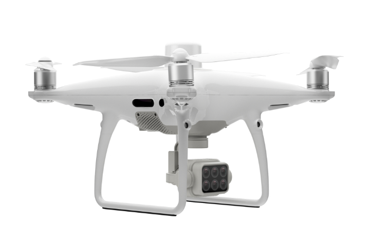 Phantom 4 Multispectral right side view white background