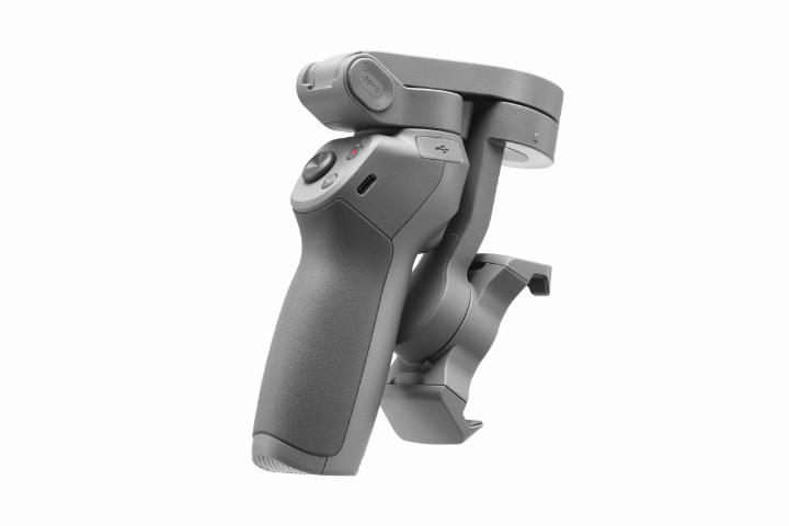 DJI Osmo Mobile 3 folded perspective rear white background