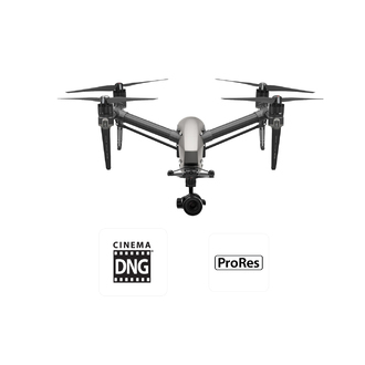 DJI Inspire 2 with X5S and CinemaDNG and Apple ProRes License